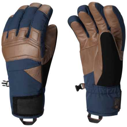 Mountain Hardwear Snojo Thermal.Q Elite Gloves - Leather Palms, Waterproof (For Men) in Hardwear Navy - Closeouts