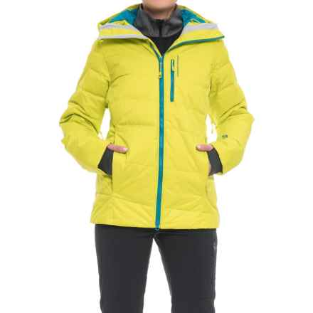 Mountain Hardwear Snowbasin Down Ski Jacket - 650 Fill Power (For Women) in Fresh Bud - Closeouts