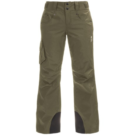 Mountain Hardwear Snowburst Dry.Q® Cargo Ski Pants - Waterproof, Insulated (For Women) in Stone Green