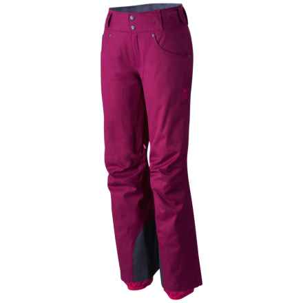 Mountain Hardwear Snowburst Dry.Q® Pants - Waterproof, Insulated (For Women) in Dark Raspberry - Closeouts