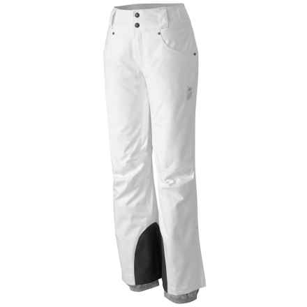 Mountain Hardwear Snowburst Dry.Q® Pants - Waterproof, Insulated (For Women) in White - Closeouts