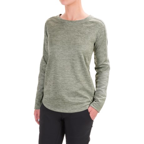 Mountain Hardwear Snowchill Fleece Shirt - Long Sleeve (For Women) in Heather Stone Green