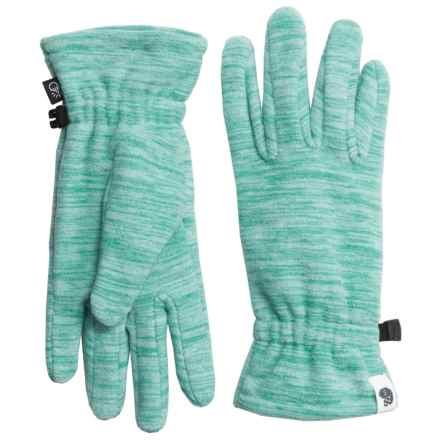 Mountain Hardwear Snowpass Fleece Gloves - Touchscreen Compatible (For Women) in Heather Spruce Blue - Closeouts