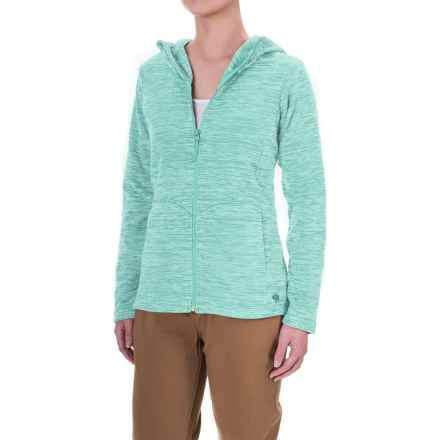 Mountain Hardwear Snowpass Fleece Hoodie (For Women) in Heather Spruce Blue - Closeouts