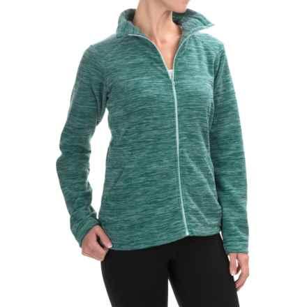 Mountain Hardwear Snowpass Fleece Jacket (For Women) in Heather Teal Green - Closeouts