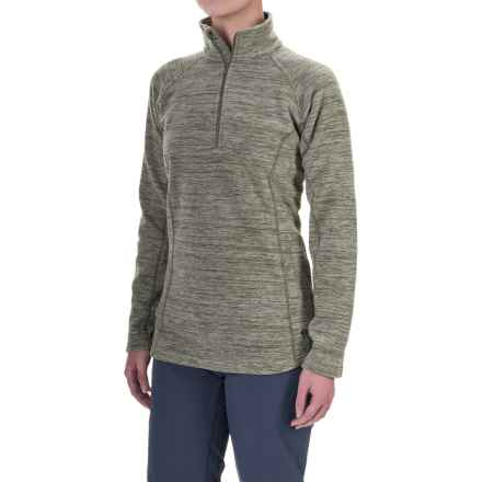 Mountain Hardwear Snowpass Fleece Shirt - Zip Neck, Long Sleeve (For Women) in Heather Stone Green - Closeouts