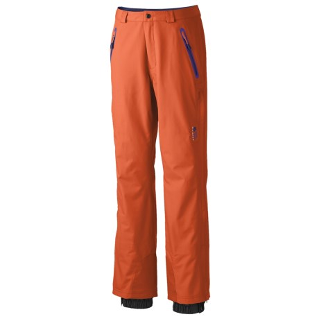 Mountain Hardwear Snowtastic Dry.Q Elite Soft Shell Pants - Waterproof (For Women) in Zing
