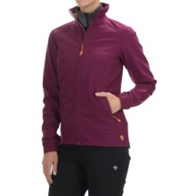 Mountain Hardwear Solamere Soft Shell Jacket (For Women) in Dark Raspberry/Peach - Closeouts