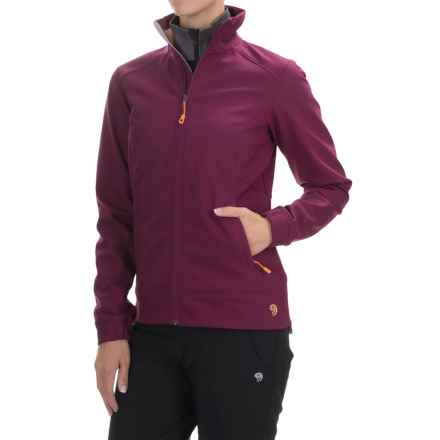 Mountain Hardwear Solamere Soft Shell Jacket (For Women) in Dark Raspberry/Peach - Closeouts
