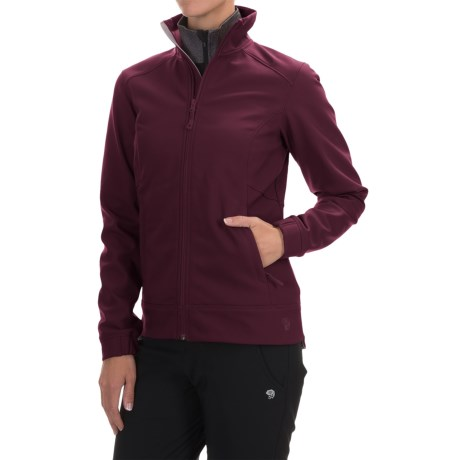 Mountain Hardwear Solamere Soft Shell Jacket (For Women) in Marionberry