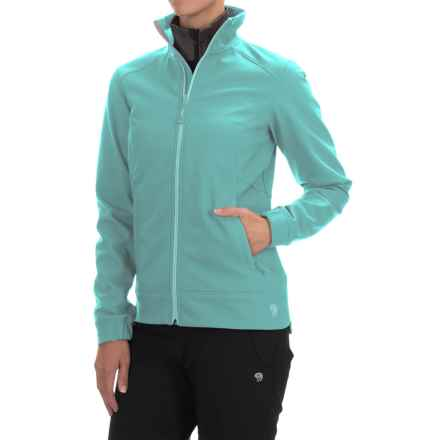 Mountain Hardwear Solamere Soft Shell Jacket (For Women) in Spruce Blue - Closeouts