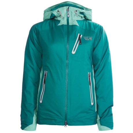 Mountain Hardwear Sooka Jacket - Waterproof, Insulated (For Women) in Deep Turquoise/Seafrost