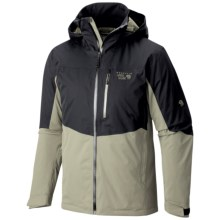 Mountain Hardwear South Chute Dry.Q® Core Ski Jacket - Waterproof (For Men) in Black/Stone Green - Closeouts
