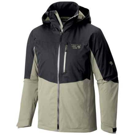 Mountain Hardwear South Chute Dry.Q® Core Ski Jacket - Waterproof (For Men) in Black/Stone Green - Closeouts
