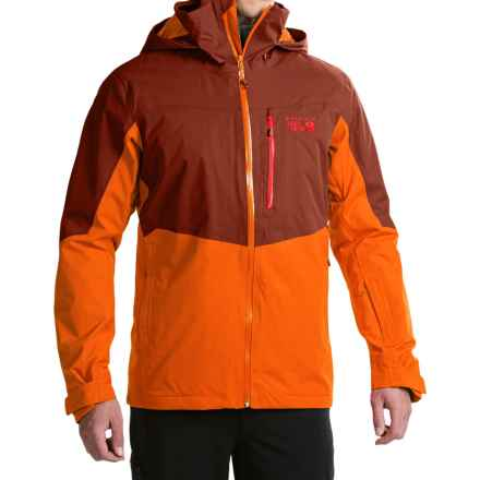 Mountain Hardwear South Chute Dry.Q® Core Ski Jacket - Waterproof (For Men) in Redwood/Orange Copper - Closeouts
