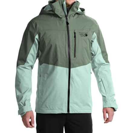 Mountain Hardwear South Chute Dry.Q® Core Ski Jacket - Waterproof (For Men) in Thunderhead Grey/Ice Shadow - Closeouts