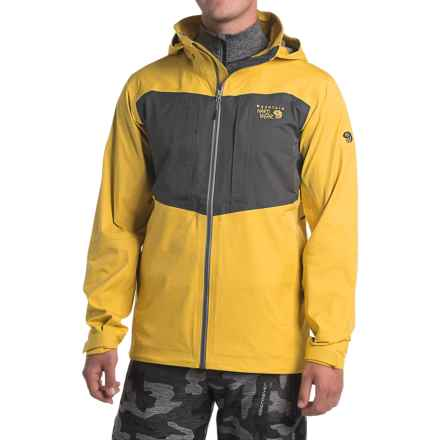 Mountain Hardwear Straight Chuter Dry.Q® Core Ski Jacket - Waterproof (For Men) in Electron Yellow - Closeouts