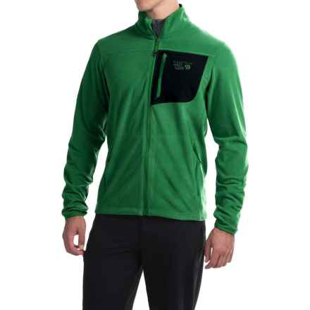 Mountain Hardwear Strecker Lite Fleece Jacket (For Men) in Serpent Green - Closeouts