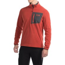 Mountain Hardwear Strecker Lite Fleece Pullover Shirt - Zip Neck, Long Sleeve (For Men) in Dark Fire - Closeouts