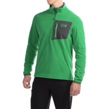 Mountain Hardwear Strecker Lite Fleece Pullover Shirt - Zip Neck, Long Sleeve (For Men) in Serpent Green - Closeouts