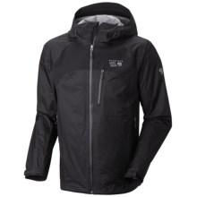 Mountain Hardwear Stretch Capacitor Jacket - Waterproof (For Men) in Black/Black - Closeouts