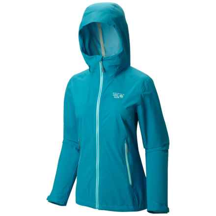 Mountain Hardwear Stretch Ozonic Dry.Q® Active Jacket - Waterproof (For Women) in Ocean Blue - Closeouts