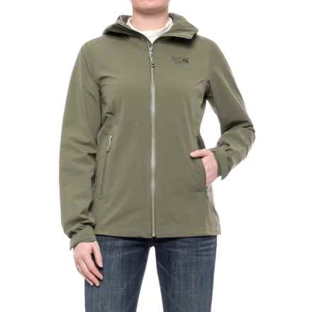 Mountain Hardwear Stretch Ozonic Dry.Q® Active Jacket - Waterproof (For Women) in Stone Green - Closeouts