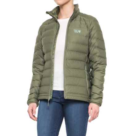 Mountain Hardwear StretchDown™ Down Jacket - 750 Fill Power (For Women) in Stone Green - Closeouts