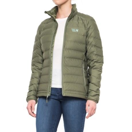 Mountain Hardwear StretchDown™ Down Jacket - 750 Fill Power (For Women) in Stone Green