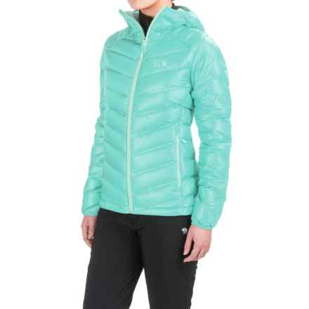 Mountain Hardwear Stretchdown™ Hooded Down Jacket - 750 Fill Power (For Women) in Spruce Blue - Closeouts