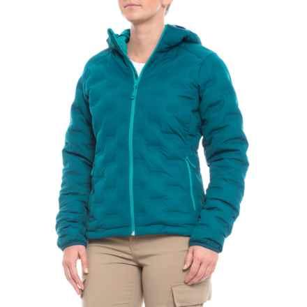12fe2d45e7 Mountain Hardwear StretchDown DS Hooded Down Jacket (For Women) in Dark  River - Closeouts