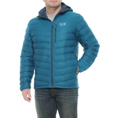 Mountain Hardwear StretchDown Hooded Jacket - 750 Fill Power (For Men) in Phoenix Blue