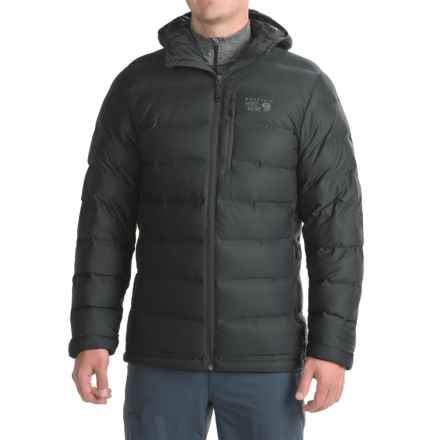Mountain Hardwear StretchDown Plus Hooded Down Jacket - 750 Fill Power (For Men) in Black - Closeouts