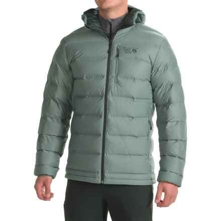 Mountain Hardwear StretchDown Plus Hooded Down Jacket - 750 Fill Power (For Men) in Thunderhead Grey - Closeouts