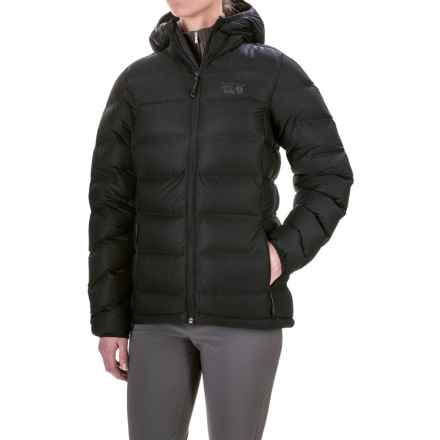 Mountain Hardwear StretchDown Plus Hooded Jacket - 750 Fill Power (For Women) in Black - Closeouts