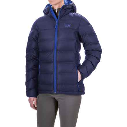 Mountain Hardwear StretchDown Plus Hooded Jacket - 750 Fill Power (For Women) in Indigo Blue - Closeouts