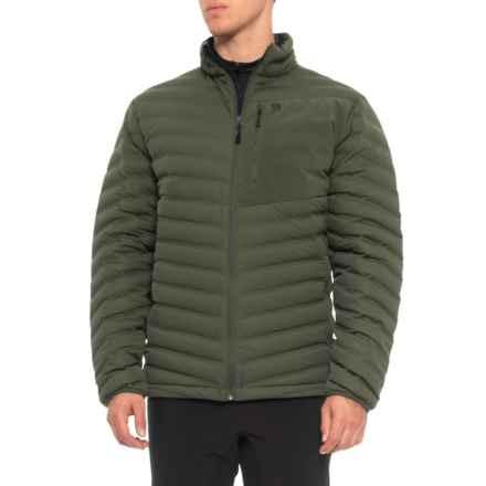 Mountain Hardwear StretchDown Q.Shield® Jacket - 750 Fill Power (For Men) in Surplus Green - Closeouts