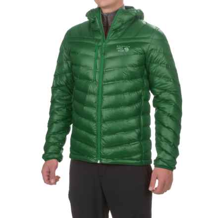 Mountain Hardwear StretchDown RS Hooded Jacket - 750 Fill Power, Full Zip (For Men) in Forest - Closeouts