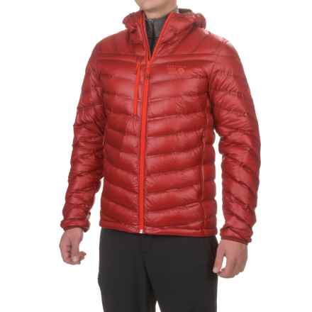 Mountain Hardwear StretchDown RS Hooded Jacket - 750 Fill Power, Full Zip (For Men) in Smolder Red - Closeouts