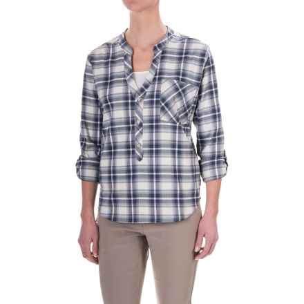 Mountain Hardwear Stretchston Half-Button Shirt - Long Sleeve (For Women) in Stone - Closeouts