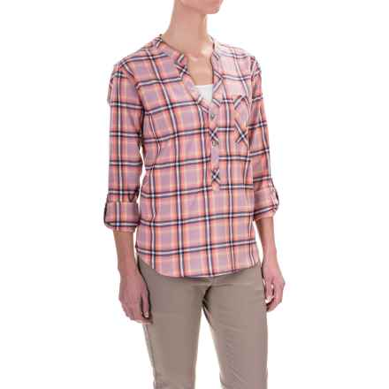 Mountain Hardwear Stretchston Shirt - Button Neck, Long Sleeve (For Women) in Dusty Orchid - Closeouts