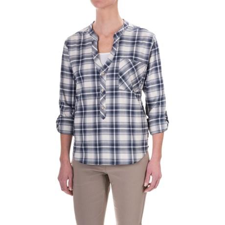 Mountain Hardwear Stretchston Shirt - Button Neck, Long Sleeve (For Women) in Stone