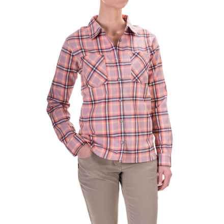 Mountain Hardwear Stretchstone Boyfriend Shirt - Long Sleeve (For Women) in Dusty Orchid - Closeouts