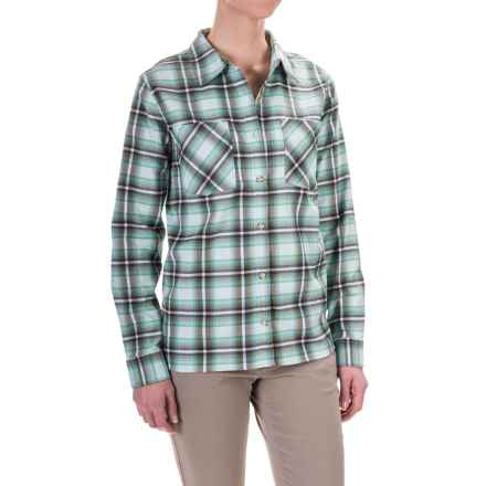 Mountain Hardwear Stretchstone Boyfriend Shirt - Long Sleeve (For Women) in Gossamer Blue - Closeouts