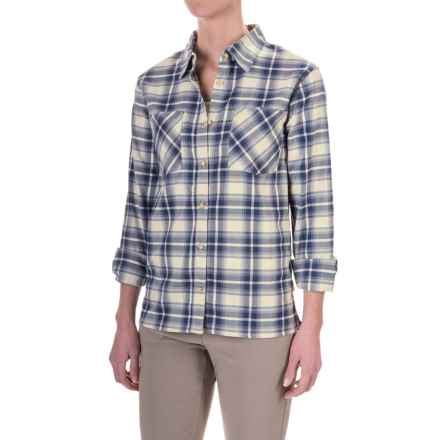 Mountain Hardwear Stretchstone Boyfriend Shirt - Long Sleeve (For Women) in Stone - Closeouts