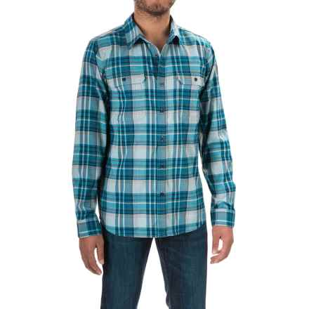 Mountain Hardwear Stretchstone Flannel Shirt - Long Sleeve (For Men) in Ice Shadow - Closeouts
