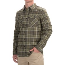Mountain Hardwear Stretchstone Flannel Shirt - UPF 50, Long Sleeve (For Men) in Peatmoss - Closeouts