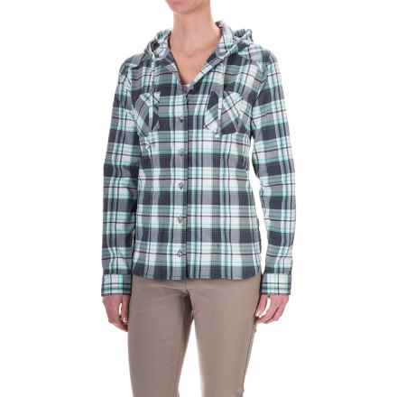 Mountain Hardwear Stretchstone Hooded Flannel Shirt - Long Sleeve (For Women) in Graphite - Closeouts