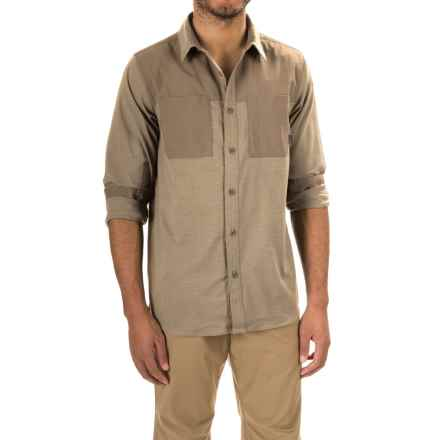 Mountain Hardwear Stretchstone Utility Shirt - Long Sleeve (For Men) in Khaki - Closeouts