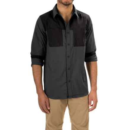 Mountain Hardwear Stretchstone Utility Shirt - Long Sleeve (For Men) in Shark - Closeouts